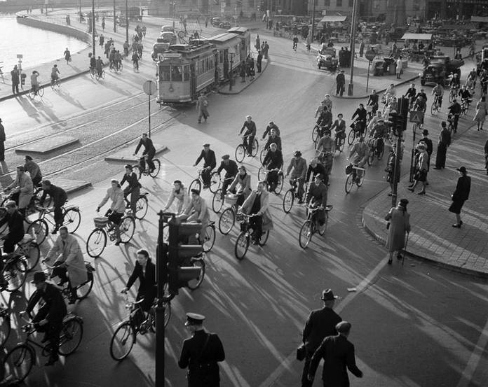 The future we want: bikes and trams.