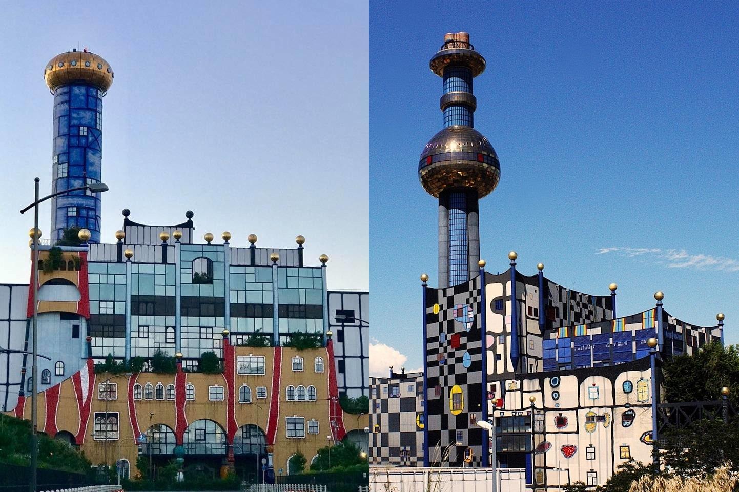 Osaka on the left, Vienna right.